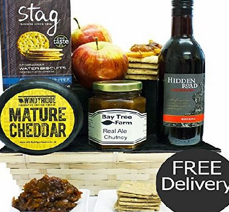 Eden4hampers SHERBORNE CHEESE HAMPER amp; RED WINE - Traditional Cheese Gifts Luxury amp; Gourmet Cheese hampers by Eden4hampers