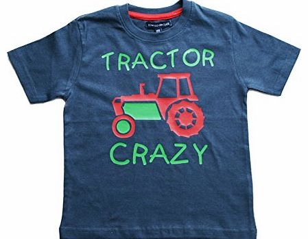 Edward Sinclair TRACTOR CRAZY 5-6 years Navy T-shirt with Green and Red print product image