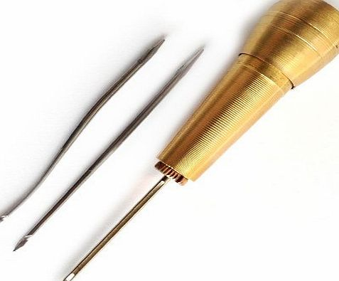 EG Sewing Awl for Leather Craft. Awning, Sails, Canvas or Tent Repairing. 3 interchangeable needles included.
