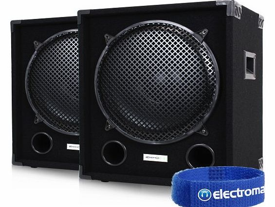 Ekho 2x Ekho MAX15SUB 15`` Inch Passive Stage PA Subwoofers Party Disco DJ Bass Subs Speakers 2000W product image