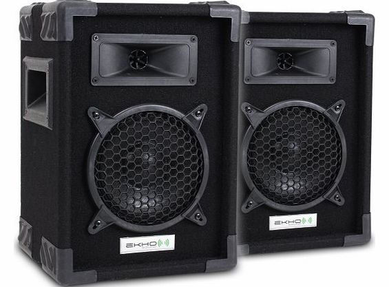 Ekho Pair of Ekho 6`` Inch Passive PA Mobile DJ Home Audio Bedroom DJ Speakers Disco Party Setup 250W product image