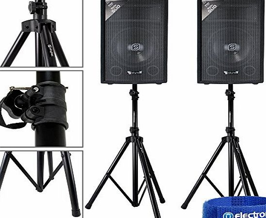 Electromarket 2x Skytec 10`` Passive Speakers PA DJ Disco Party Pub Bar Stands 1000W