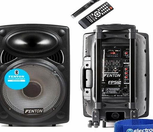 Electromarket Fenton FPS12 Portable Bluetooth PA Speaker System Aerobics Busking Battery Power