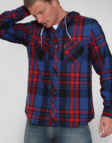 Arroyo Hooded flannel shirt