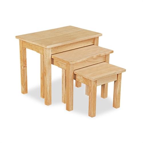 light oak nest of tables. Black Bedroom Furniture Sets. Home Design Ideas