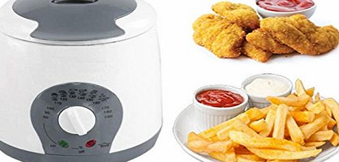 Elite © 1LTR DEEP FAT FRYER KITCHEN CHIPS FRY ELECTRIC OIL LITRE 800W NON STICK LID