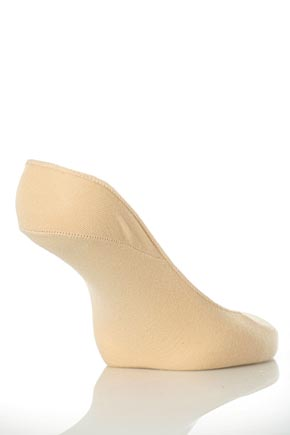 Ladies 2 Pair Elle Tootsies In 2 Colours Natural
