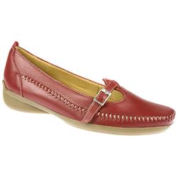 Elmdale Female Katarina E Fit Shoe Leather Upper Leather Lining Casual Shoes in Beige, Black, Red product image