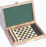 Elysium Enterprises Chess Set. Pegged Pieces. Inlaid.Shisham Wood Travel. product image