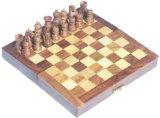Elysium Enterprises Chess Set wooden, inlaid, shisham 15cm product image