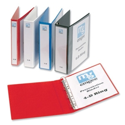 Emgee A4 25mm 4D Presentation Binders White product image