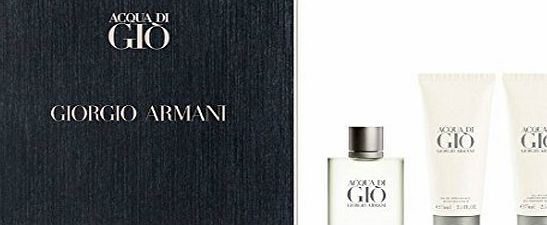 Emporio Armani Giorgio Armani Acqua Di Gio Gift Set 100ml EDT   75ml Aftershave Balm   75ml All Over Body Shampoo