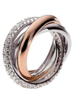 Emporio Armani Ladies Silver and Rose Gold Ring product image