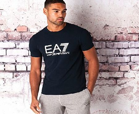 Emporio Armani Mens Emporio Armani EA7 Mens Train Graphic T-Shirt in Navy - S