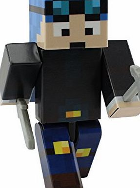 EnderToys Dan with Blue Hair - 4`` Action Figure Toy (Not an official Minecraft product)