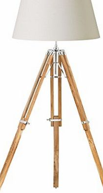 Endon 1 Light Tripod Floor Lamp Base Finish: Natural