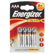 Ultra+ AAA batteries, 8 pack