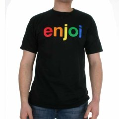 Enjoi Mens Enjoi Spectrum Tee Black product image