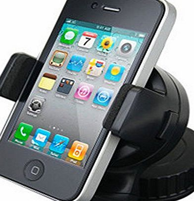 360 Degree Swivel Car Windshield Mount Holder Bracket for iPhone 4 / 4S, Samsung Galaxy, and Ther PDA, Smart Mobile Phones