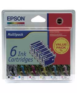 Epson 6 Pack TO4814 Ink Cartridges - CLICK FOR MORE INFORMATION