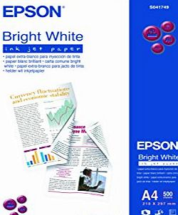 S041749 A4 Bright White Inkjet Paper (500 Sheets)