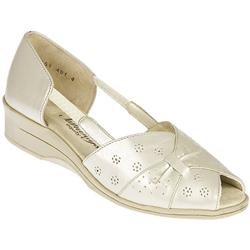 Equity Female Stacy Leather Upper Textile Lining Casual Shoes in Beige Shimmer, Navy Multi
