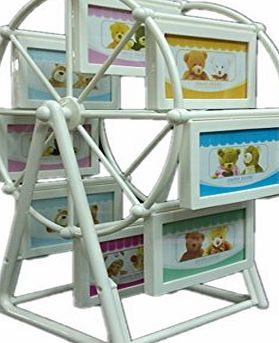 ERollDeep The Best Special Present 12 Collage Picture Frame Baby or Wedding Photo Frame Ferris Wheel Pinwheel Decoration (White, L(8.9*12.7cm))