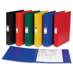 2-Ring Binders PVC A4 Yellow Ref 50019
