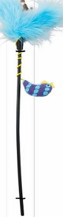 ETHICAL PRODUCT s Spot Fun Knit Fish Teaser Wand Catnip Interactive Durable Toy