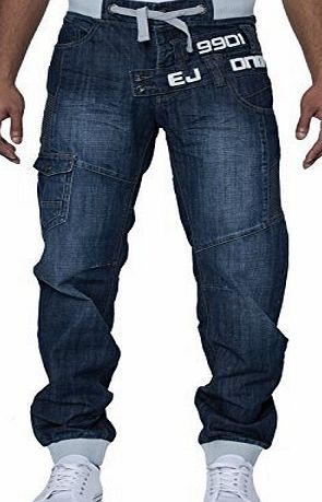 Eto Mens Designer Eto Jeans Cuffed Leg Jogger Denim Pants Bottoms In 6 Styles