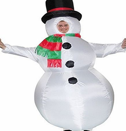 Eurotrade W Ltd ADULT INFLATABLE FROSTY THE SNOWMAN XMAS CHRISTMAS FANCY DRESS COSTUME OUTFIT