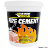 Fire Cement is a ready mixed blend of thermo setting resins and inorganic fillers that cures when exposed to heat, resulting in a mortar, which is resistant to temperatures up to 1250°C. It can be used on fire bricks, fire grates, flue pipes, boi - CLICK FOR MORE INFORMATION