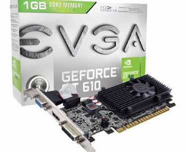 EVGA GF GT 610 1GB DDR3 Graphics Card product image
