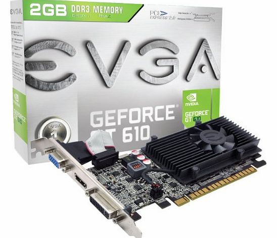 EVGA GF GT 610 2GB DDR3 Graphics Card product image
