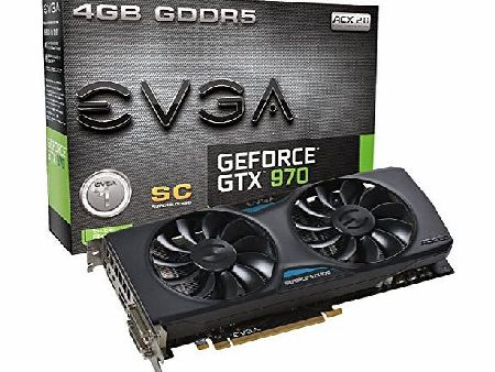 EVGA Nvidia GeForce GTX 970 Superclocked with ACX 2.0 Cooling 4GB Graphics Card product image