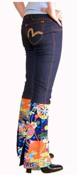 Ladies Kimono Dropped Waist Jeans.  Lightweight, w - CLICK FOR MORE INFORMATION