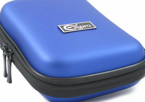 Ex-Pro Blue Water amp; Shock Proof Digital Camera Case Bag CR91012R (Cameras upto 110mm x 72mm x 40mm) - Acer, Agfa, Canon, Casio EXilim, Fuji Finepix, GE, Hitachi, Kodak Easyshare, Nikon Coolpix, P