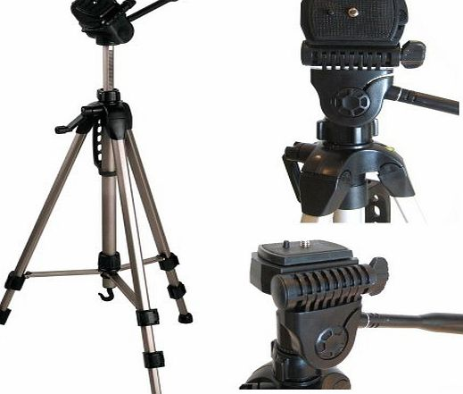 Ex-Pro TR-570AN Professional Photographic Camera Tripod (620mm - 1700mm / 67``) Light Weight, Full Geared system, Fluid Pan Head, 3 Section Lock Legs, Spirit Level, Fast Install, Quick Release, High Qu