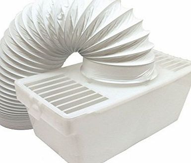 Ex-Pro Universal White Knight Beko Tumble Dryer Indoor Condenser Vent Kit Box With 1m Hose