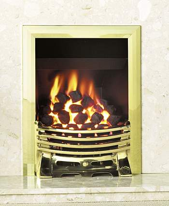 Excelsior Convector Coal Gas Fire with Remote
