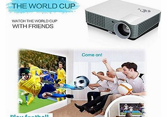 Excelvan LCD Projector DVB-T HD LED Projector 2000 Lumens Multimedia Home Theater LCD Projector UK Plug