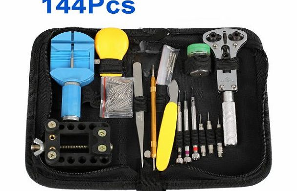 Excelvan WMicroUK High Quality 144Pcs Watch Repair Tool Kit Set product image