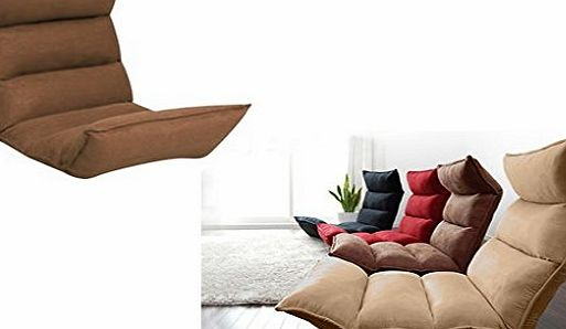 Express Trading Portable Multi Position Folding Foldable Suede Padded Recliner Lounger Relaxing