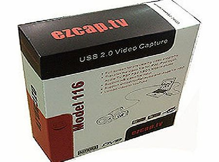 EZCAP.TV 116 EzCAPTURE USB 2.0 VHS to DVD Converter. Capture amp; convert video from VHS, Hi8, All Camcorders, DVD player, Satellite TV, etc. Capture xbox360/Wii/Playstation 3 in full colour. Upload