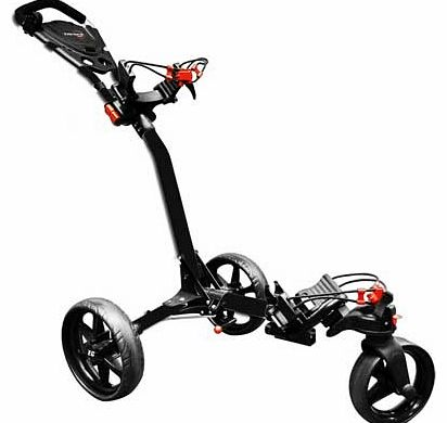 Compact Tri-Spin Golf Trolley - Black