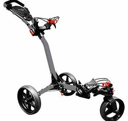 Compact Tri-Spin Golf Trolley - Silver