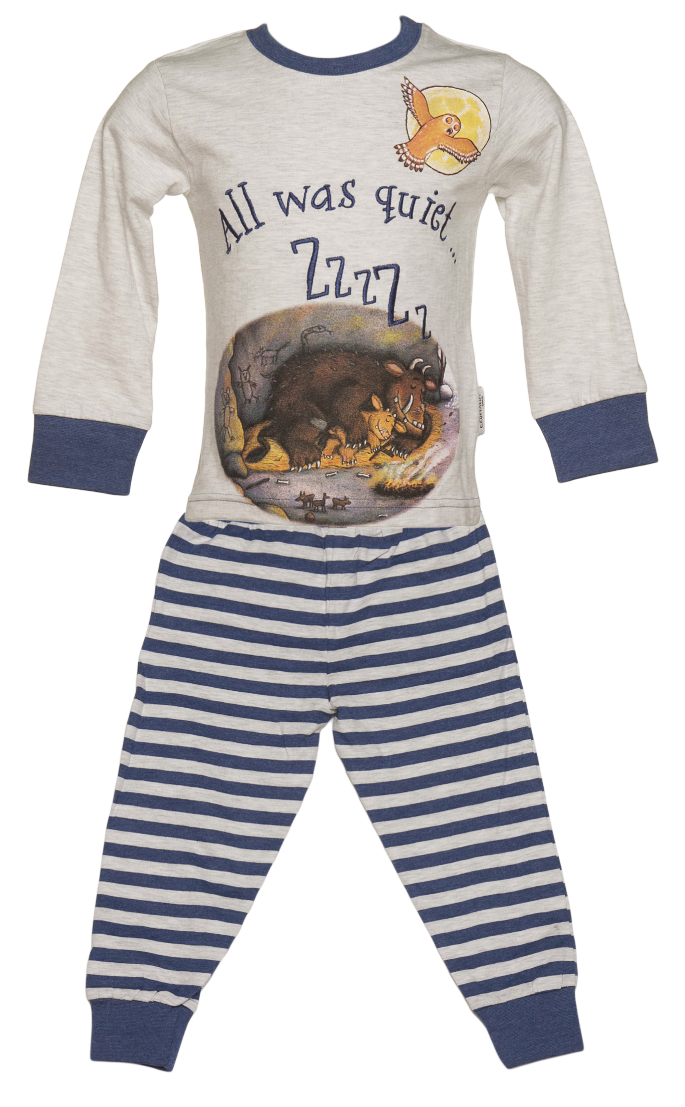Kids Grey Marl All Was Quiet Gruffalo Pyjamas