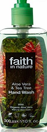 Faith In Nature  Organic Aloe Vera and Tea Tree Hand Wash 300ml