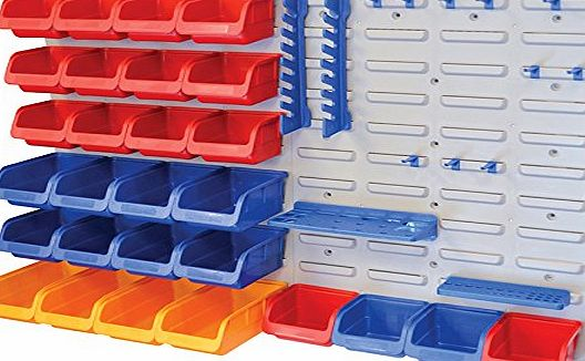 Faithfull BD25PRO Storage Bin Set with Wall Panels (43 Pieces)