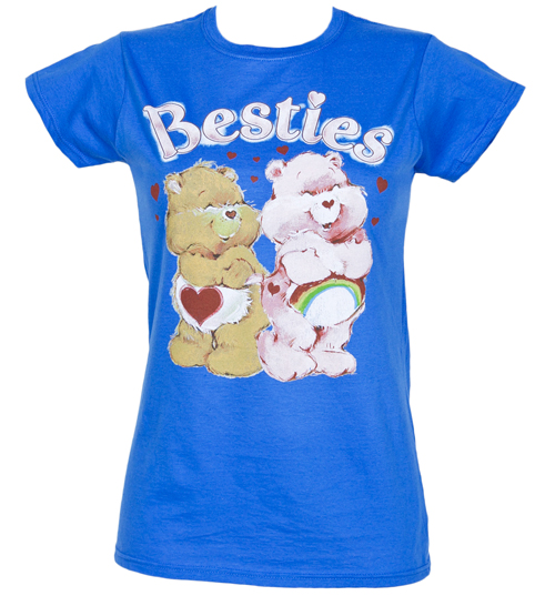 Fame and Fortune Ladies Blue Care Bears Besties T-Shirt from Fame product image